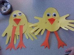 Chick art. We could make these when we get to hatch eggs.