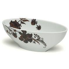 Narrow Oval Bowl Mikasa Cocoa Blossom $49.99
