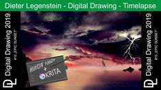 """Dieter Legenstein – Digital Painting 2019 / Picture #10 """"Epic Sunset"""" Seven Nation Army, Cool Books, Painting & Drawing, Sunsets, Videos, Storytelling, It Works, Photoshop, Social Media"""