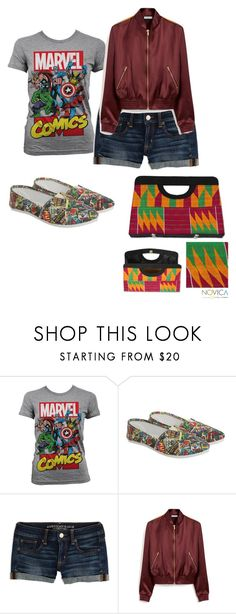 """""""Untitled #2806"""" by bellagioia ❤ liked on Polyvore featuring Marvel Comics, American Eagle Outfitters, Mulberry and NOVICA"""