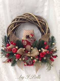 Wreath Crafts, Christmas Projects, Christmas Crafts, Christmas Ornaments, Silver Christmas Decorations, Christmas Centerpieces, Simple Christmas, Christmas Diy, Christmas Flower Arrangements