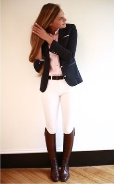 Love this outfit! Love this outfit! Love this outfit! Love this outfit! Equestrian Outfits, Equestrian Style, Equestrian Fashion, Outfit Elegantes, Looks Style, My Style, Estilo Preppy, Look Fashion, Womens Fashion