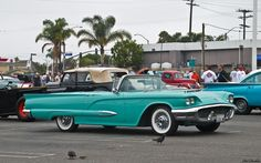 1959 Ford Thunderbird Convertible, Turquoise.