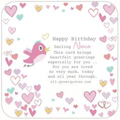 For a favorite niece on her birthday happy birthday birthdays and happy birthday niece this card brings heartfelt greetings especially for you for you are bookmarktalkfo Choice Image