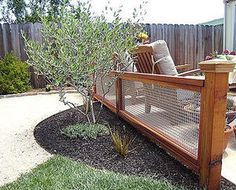 Fence Backyard Ideas 25 best backyard fences ideas on pinterest wood fences horizontal fence and privacy fences Yard Fence Ideas Snyderreal Estateportland Or Wire Fence With Wood Frame Yard Beauties Pinterest Gardens Vegetable Garden And Fence