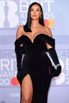 BRITs Maya Jama wears black gown as ex Stormzy wins Most Beautiful Dresses, Elegant Dresses, Nice Dresses, Ball Gowns Evening, Evening Dresses, Prom Dresses, Prom Outfits, Hot Dress, Look Fashion