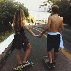 Se eu ando de skate mas mesmo assim caio, foi por que aprendi com você! ❤️