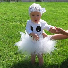 Items similar to Absolutely Adorable Ghost Halloween Costume Tutu on Etsy