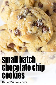 Small batch chocolate chip cookies can be mixed and matched to YOUR pantry ingredients. 10 perfect cookies for when you are running low on ingredients. Easy Homemade Cookies, Easy Homemade Recipes, Baking Recipes, Cookie Recipes, Dessert Recipes, Bar Recipes, Vegan Recipes, Chocolate Desserts, Chocolate Chip Cookies