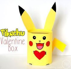 This DIY Pikachu Valentine box is perfect for your Pokémon-loving kid and their school Valentine's Day party!