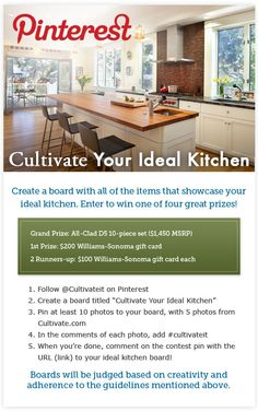 Start Pinning from our Get Inspired Gallery: www.cultivate.com...                                                For Official Rules visit: www.cultivate.com...  Fun contesr