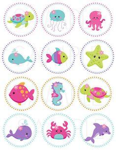 Rosa bajo el mar 2 imprimible Cupcake por TheLovelyMemories: