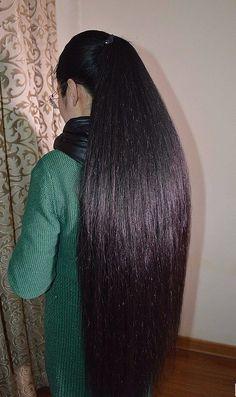 Long Ponytail Hairstyles, Long Hair Ponytail, Long Ponytails, Bun Hair, Braids For Long Hair, Down Hairstyles, Trendy Hairstyles, Beautiful Long Hair, Amazing Hair