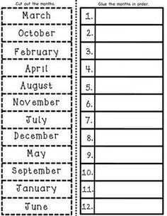 Months of the Year Worksheet   Printable Worksheets   Pinterest ...