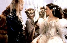 Labyrinth | Jennifer Connelly and David Bowie in Labyrinth (1986) Movie Image ...