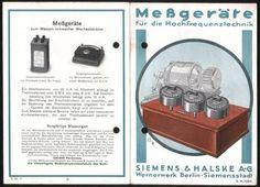 Germany Siemens & Halske Berlin Brochure Meßgeräte Hochfrequenztechnik 1920's