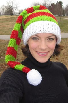 Free Crochet Stocking Hat Patterns For Adults : 1000+ images about Christmas....Knits on Pinterest Elf ...