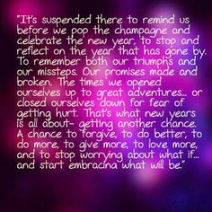 "Quote from the movie ""New Year's Eve""..."