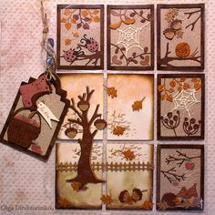 "Hi there and happy Autumn! Today's project is a very special one - it is a fall themed Pocket Letter meant to be sent to a crafty friend. I hope she will like it! I have used the fantastic ""Fall In Pocket Pal, Pocket Cards, Pocket Scrapbooking, Scrapbook Cards, Book Crafts, Paper Crafts, Inchies, Snail Mail Pen Pals, Atc Cards"