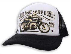 Hellmotors Trucker Mesh Cap Oldschool Rockabilly Oldschool Baseball Kappe Biker