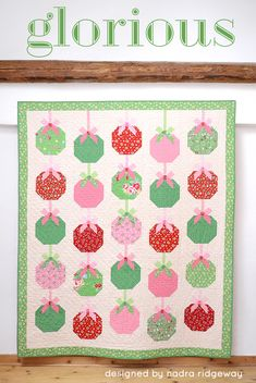Christmas Ornament Quilt Pattern by Nadra Ridgeway of ellis & higgs made with Elea Lutz's Little Joys collection for Penny Rose Fabrics