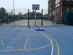 #BasketballCourtSurface - http://www.sportsandsafetysurfaces.co.uk/sports/basketball/surfacing/