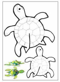 Risultati immagini per diy free printable paper 3d turtle template for kids