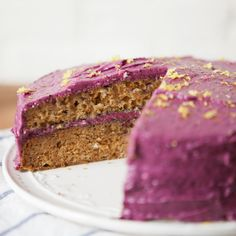 Earl Grey Tea Cake with Blueberry Cream Cheese Frosting — a Better Happier St. Sebastian