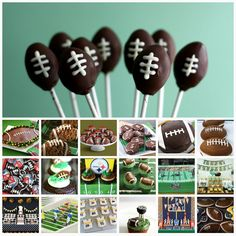 Football Dessert Collection. here's some super bowl food ideas for ya, jennifer