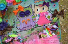 LOVE! ♥ Idea for nursery wall art or baby shower gift. Owl Tutu~On~A~Canvas uses favorite inspirational quotes and mixed media technique behind a wearable outfit! This design is so cute...DIY style?