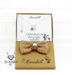 best friends necklace winnie the pooh gift by GlowYourMindJewelry