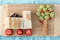 dump truck lunch! Have a healthy party for lunch with your child. They will love it.
