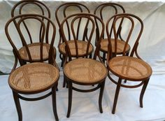 Charmant Set Of Vintage Bentwood Chairs 5 Alike 1 Different By