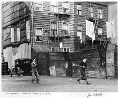 Lot Baseball, Greenwich Village, NYC  1930s