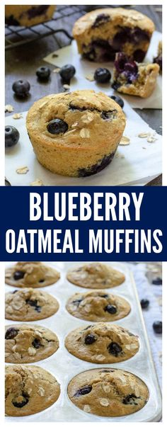The Best Ever Healthy Blueberry Muffins—Soft, fluffy, and every bite is bursting with juicy blueberries!