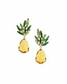 Markings For Gold Jewelry Cute Pineapple, Pineapple Express, Pineapple Earrings, Jewel Tones, Gold Jewelry, Jewellery, Handmade Jewelry, Gems, Stud Earrings