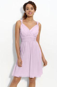 Donna Morgan Ruched Chiffon Dress | Nordstrom