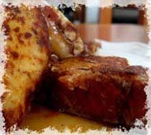 vanilla challah french toast  my husband makes the best