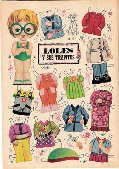 Loles y sus trapitos @ bonecas de papel