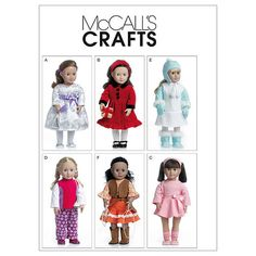 Clothes For 18 Doll-One Size Only Pattern