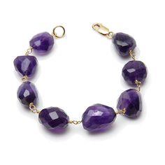 Stone Amethyst Bracelet.