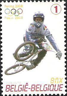 belgian stamps Sport, Olympic games Bejing 2008.BMX