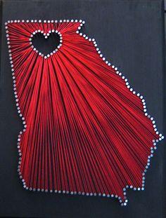 Georgia on My Mind Georgia State String Art by ShadesOfGlitter, $45.00