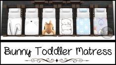 Bunny Toddler Mattress - Sims 4