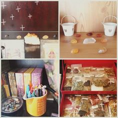 Spent a lovely time today #organising my #magical #supplies and setting up a new altar and #crystal #grids  #happy #home #springclean #acatlikecuriosity #intentions #loveit #stones #abeautifulmess