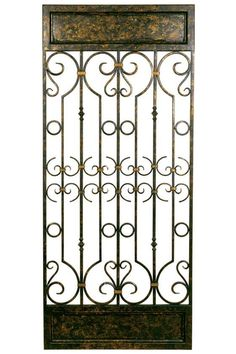 The Mario Industries Iron Gate Wall Sculpture looks just like a salvaged section of a vintage gate. This impressive iron wall sculpture has high detailing. Window Wall Decor, Plate Wall Decor, Tree Wall Decor, Metal Wall Decor, Metal Wall Art, Metal Work, Room Decor, Starburst Wall Decor, Medallion Wall Decor