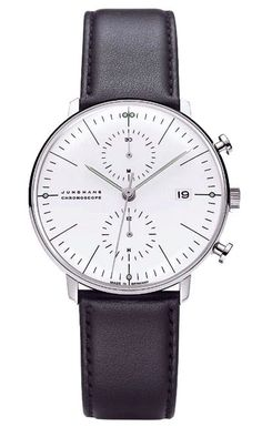Junghans Watches : Max Bill Chronoscope Watch White | NOVA68 Modern Design