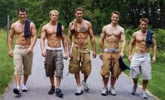 look there's a new gang in town...a gang of hot shirtless guys