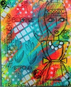 Mixed Media Collage Canvas | Please visit my website to learn more about me and my work at www ...