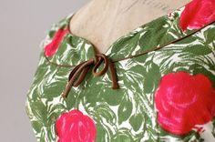 1950s dress / floral print 50s dress / Les Arts by DearGolden, $245.00